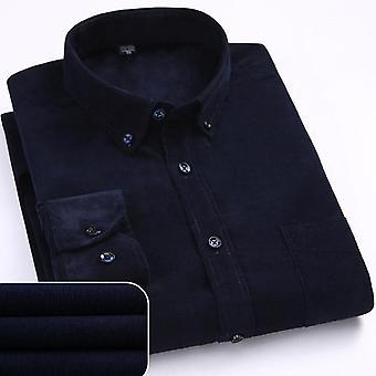 Smart Casual Shirts, Höst / vinter Varm kvalitet 100%bomull Manchester Lång