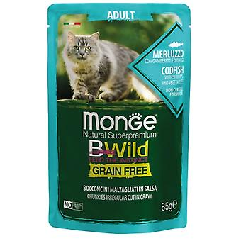 Monge Adult Codfish And Vegetables Grain Free (Cats , Cat Food , Wet Food)