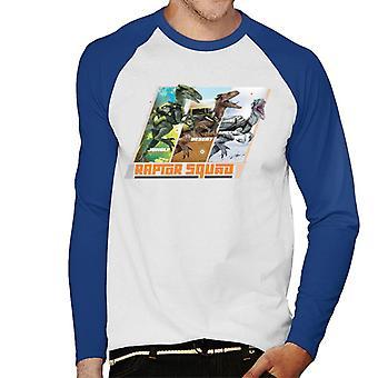 Jurassic Park Dschungel Wüste Arctic Raptor Squad Männer's Baseball langärmelige T-Shirt