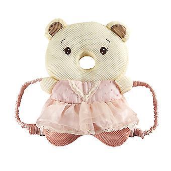 Baby walker cabeça proteção cabeça cabeça bonito mochila 3D respirável ajustável