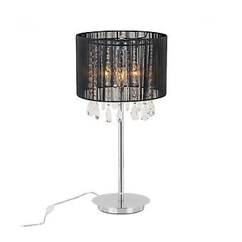 Lámpara De Escritorio Essence De Cristal Negro