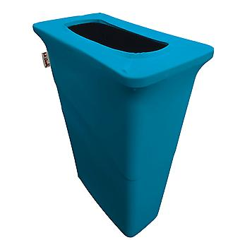 La Linen Stretch Spandex Trash Can Cover For Slim Jim 23-Gallon, Turquoise