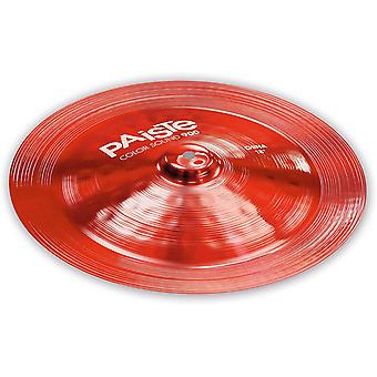 Paiste colorsound 900 china cymbal red 18 in.