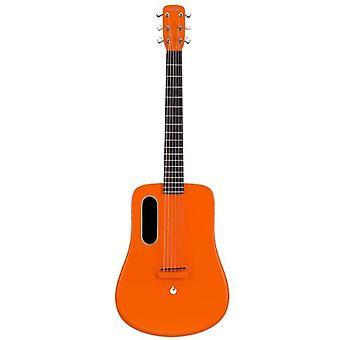 Lava mig 2 36 tommer kulfiber guitar med effekter akustisk elektrisk guitar med picks hårde sag (freeboost-orange)