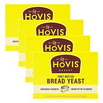 4 x 6 zakjes Hovis Dry Yeast Baking Raising Agent Vegetarische Cake Broodjes