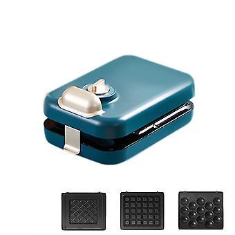 Small waffle maker, multifunctional sandwich breakfast toaster, grill