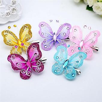 Hair Clip Butterfly Adorable Cute Headdress  (random Color)