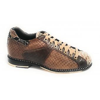 Men's Shoes Harris Five-a-side Football Print Natural Python/ Hazelnut/ Brown U17ha93