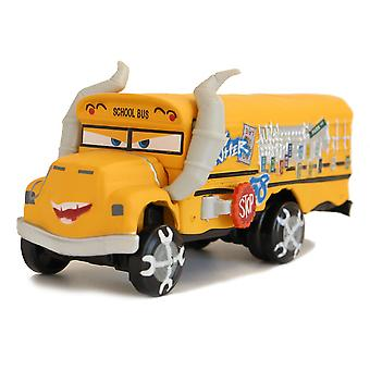 Cars 3 Crazy Mace Bull School Bus Alloy Children's Simulation Toy Model