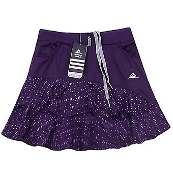 Lotus Leaf Tennis Skirts, Women's Sport Short Yoga Elastic Skirt