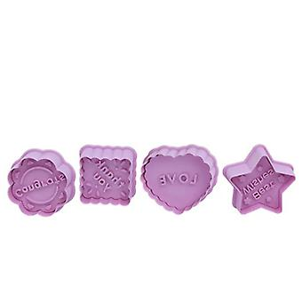 4pcs/set Diy Baking Tool Silicone Biscuit Mold Blessing Thanksgiving Parent-child Mold Fudge Cake Mold