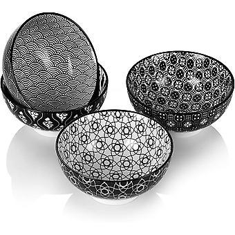 HanFei Haruka 4-teilig Mslischalen aus Porzellan, Schalen Set, 15,2 cm Durchmesser fr Obst, Nuddeln