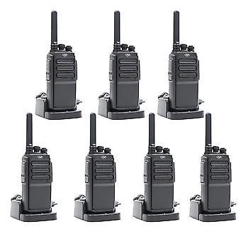 Set van 7 draagbare radiostations PNI PMR R30 Pro, inclusief batterijen, opladers en hoofdtelefoons
