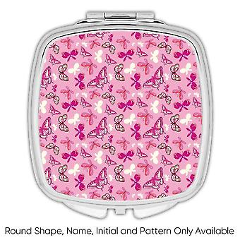 Gift Compact Mirror: Butterflies Girlish