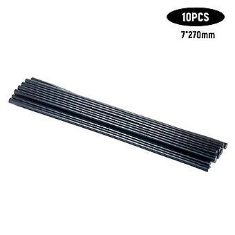 10Pcs High Temperature Resistant Hot Melt Adhesive Bar Environmental Protection Glue Stick Manual Rubber Bar Black 7*270mm