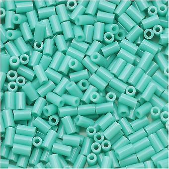 Contas do tubo de bugle toho tamanho #1 / 2x3mm Turquesa opaca 8 Gramas
