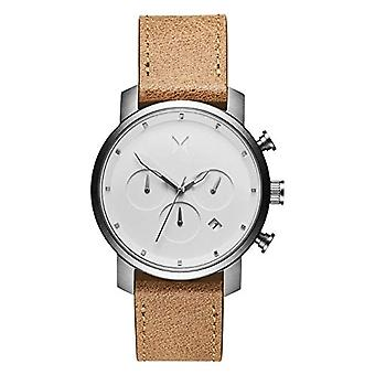MVMT Men's Quartz Chronograph Watch with Leather Strap D-MC02-WT