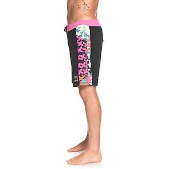 Quiksilver Highline Arch Pop 18 Mid Length Boardshorts in Black