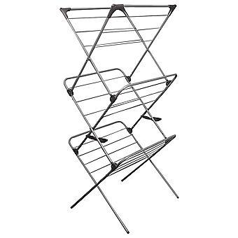 Vaskestativ, der kan foldes lodret 58 x 55 x 138 cm – Metal