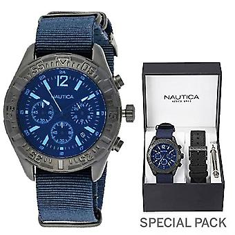 Nautica watch nst 402 special pack + extra strap nai22508g