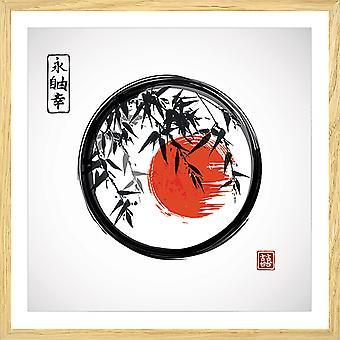De cirkelaffiche van Zen