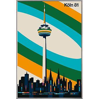 JUNIQE Print - Kolonia 81 - Plakat podróżny w kolorze żółtym i zielonym