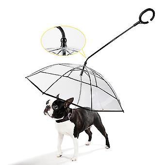 مظلة شفافة المشي الكلب الحيوانات الأليفة، المقود قابل للتعديل للمشي في az5915 المطر
