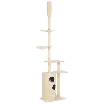 vidaXL Katzen-Kratzbaum mit Sisal-Kratzsäulen Beige 260 cm