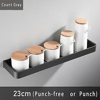 23cmGray Space Aluminum Hanging Shelf Kitchen Storage Rack Bathroom Rack Shampoo Shelf  Organizer