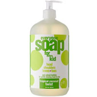 EO Products Everyone Soap For Kids, Tropical Coconut Twist 32 OZ