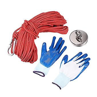 1 Set Salvage Rope Ring Set Strong Force Magnetic Fishing Gear Set Magnets Fishing Device Gloves Set Special Fishing Accessory For Outdoor Fishing Use