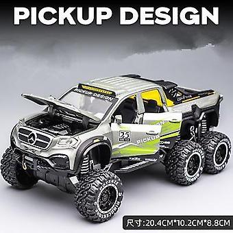 1:28 X-class 6*6 pyöräseos x pickup simulaatio auto malli lelu lasten lahja