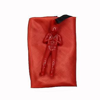 Parachute Toy Set Tangle Free Throwing Toy Parachute Throwing Parachute Figures Toss Toy Gift(Red)