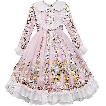 Kids Girls Sweet Lolita Dress Princess Lace Cosplay Costumes(120cm)