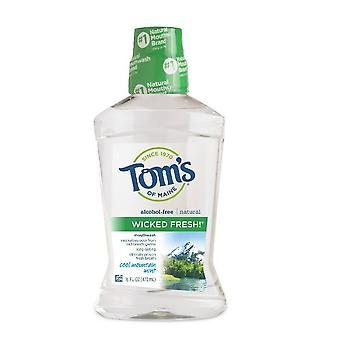 Tom's of maine natural wicked fresh! mouthwash, cool mountain mint, 16 oz