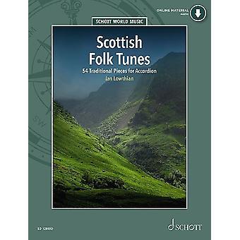 Edição de acordeon de músicas folclóricas escocesas com cd