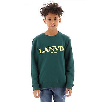 Lanvin Kids Grön Logotyp Sweatshirt