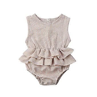 Solide pasgeboren kind baby kleren mouwloze Romper Tutu Jurk Sunsuit Outfit