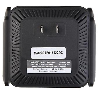 Black usa plug antenna signal booster,2.4 5g dual band wireless extender repeater 1200m wifi booster amplifier zf0261