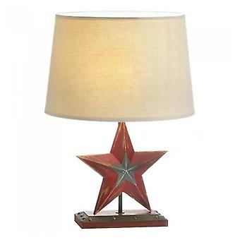 Accent Plus Distressed-Look Red Star Country Table Lamp, Pack of 1