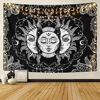 """Sun And Moon Tapestry Burning Psychedelic Tapestry 59.1"""" X 82.7"""""""