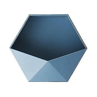 Wall shelves ledges nordic style punch free geometric hexagon wall shelves blue