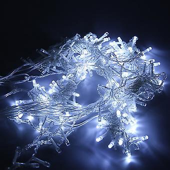 6m X 3m 600led 220v عيد الميلاد خرافية الزفاف الستار ضوء 16 سلاسل / مجموعة
