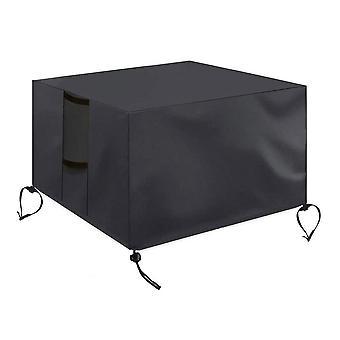 """ריהוט בד אוקספורד לכסות UV עמיד למים עמידים למים אח מרובע כיסוי עבור פטיו גז אח רהיטים שולחן מכסה 82 * 82 * 61 ס""""מ"""