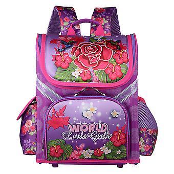Flower Printed Girls School Backpack