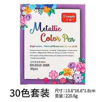 Zachte borstel kleur metalen pen 30 kleur marker pen schilderij sjabloon kleuren Graffiti art pen