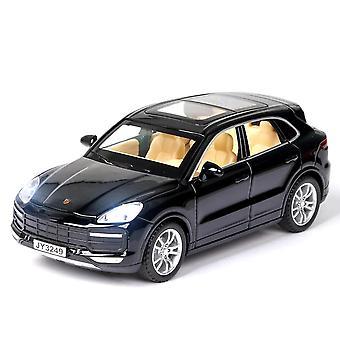 Qian 1/32 Diecast Cayenne Alloy Car Toys Model (czarny)