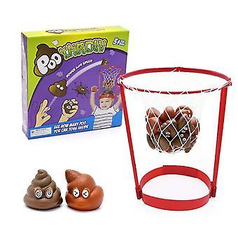 子供のバスケットボールアウトドアヘッドバンドフープ偽のうんちおもちゃの安全なキャッチゲーム親子ゲーム