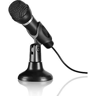 SPEEDLINK Capo skrivbord och Hand mikrofon med 2m kabel svart (SL-8703-BK)