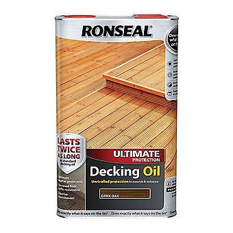 Ronseal Ultimate Protection platelage huile 5 litres - chêne foncé